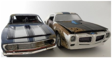 Muscle Cars also rusted