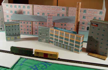 N Scale Buildings From Cardstock