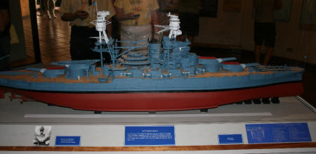 USS Arizona model in Blue