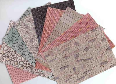 Painting And Glueing Plastic 3d Patterned Sheet Cladding